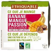 Desserts - Aide Patisserie Compotes Banane Mangue Passion bio 400g