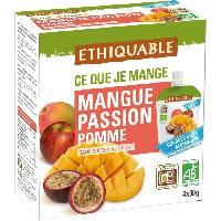 Desserts - Aide Patisserie ETHIQUABLE Gourde Mangue Passion Pomme Bio - 4 x 90g