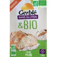 Desserts - Aide Patisserie Farine pain Bio sans gluten - 1 kg
