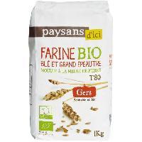 Desserts - Aide Patisserie PAYSANS D'ICI Farine de Blé et Grand Épeautre T80 Bio - 1Kg