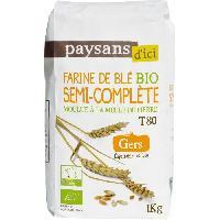 Desserts - Aide Patisserie PAYSANS D ICI Farine de ble Semi Complete T80 Bio - 1Kg