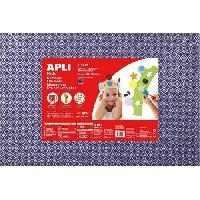 Dessin - Coloriage APLI Pochette 1 feuille de mousse caoutchouc - Bleu imprimées losanges argentés