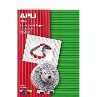 Dessin - Coloriage APLI Pochette de 10 feuilles carton - Ondulé Couleurs assorties