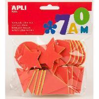 Dessin - Coloriage APLI Pochette de 25 formes géométrique En mousse - Tricolore