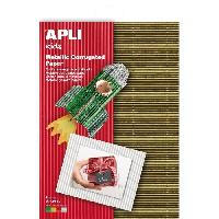 Dessin - Coloriage APLI Pochette de 4 feuilles carton - Ondulé Couleurs métal