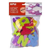 Dessin - Coloriage APLI Sachet de 104 lettres En mousse - Couleurs assorties