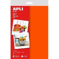 Dessin - Coloriage APLI Sachet de 10 feuilles de feutrine - Orange