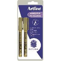 Dessin - Coloriage ARTLINE Lot de 2 Marqueurs métalliques 1.2 mm - Or - Art Line