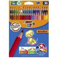 Dessin - Coloriage BIC Kids Evolution ECOlutions Crayons de Couleur - Coloris Assortis. Coloris Assortis. Etui Carton de 36 - Betadine