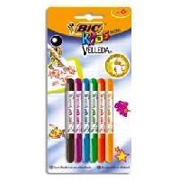Dessin - Coloriage BIC Kids Mini Velleda Feutres Effaçables a Sec Pointe Conique Fine - Couleurs Assorties. Blister de 6 - Betadine