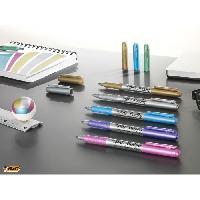 Dessin - Coloriage BIC Marking Marqueurs Permanents a Pointe Moyenne- Couleurs Metalliques Assorties. Blister de 5 - Betadine
