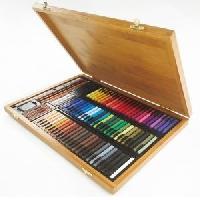 Dessin - Coloriage CONTE A PARIS Coffret bambou 84 carres + Crayons + Accessoires