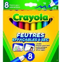 Dessin - Coloriage CRAYOLA 8 Feutres éffaçables a sec - Sans alcool et sans odeur Goliath