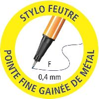 Dessin - Coloriage Colorparade x 20 stylos-feutres STABILO point 88 boîtier gris/orange