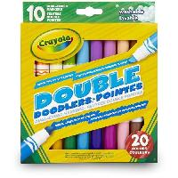 Dessin - Coloriage Crayola - 10 Feutres double pointes - Goliath