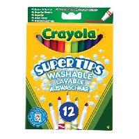 Dessin - Coloriage Crayola - 12 Feutres a dessiner - boîte française - Dessin