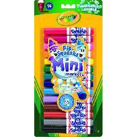 Dessin - Coloriage Crayola - 14 Mini feutres a colorier - Coloriage