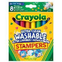 Dessin - Coloriage Crayola - 8 Mini Stampers Emoticones ultra-lavables - se nettoie sans frotter