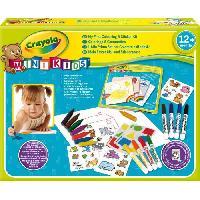Dessin - Coloriage Crayola - Mini Kids - Mon premier coffret de coloriage et de gommettes  - Coloriage pour enfant et tout petit Minikids