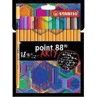Dessin - Coloriage Etui carton x 18 stylos-feutres STABILO point 88 ARTY