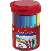 Dessin - Coloriage FABER-CASTELL Tube de 50 feutres Connector - Coloris assortis