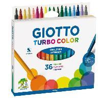 Dessin - Coloriage GIOTTO Étui accrochable de 36 Feutres Turbo Color