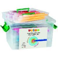 Dessin - Coloriage PRIMO 615PEN120 Feutres super-lavables. pointe fine. en mallette scolaire avec 4 compartiments. 120 pieces. 12 couleurs.