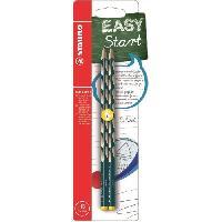 Dessin - Coloriage STABILO 2 crayons graphite HB EASYgraph S Gaucher - Bleu ardoise