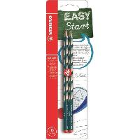 Dessin - Coloriage STABILO 2 crayons graphite HB EASYgraph S droitier - Bleu ardoise