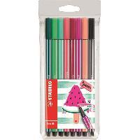 Dessin - Coloriage STABILO 8 feutres de dessin Pen 68 Living colors - Décor pastheque