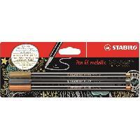 Dessin - Coloriage STABILO Blister de 3 feutres métallisés - Pen 68 metallic - Or. argent. cuivre
