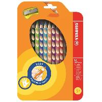 Dessin - Coloriage STABILO Étui thermoformé de 12 Crayons de couleur Easycolors + 1 Taille - crayon