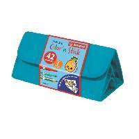 Dessin - Coloriage STABILO Trousse de coloriage Color'n stick - 22 feutres.12 crayons + 8 stickers textiles