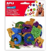 Dessin - Coloriage Sachet de 52 lettres En mousse - Adhesive a paillettes