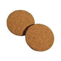 Dessous De Plat - Porte-plat 2 dessous plat rond en liege D19cm marron