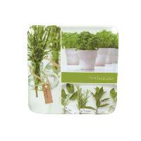 Dessous De Plat - Porte-plat Dessous de plat Herbarium carre - 19 cm - Melamine - Vert