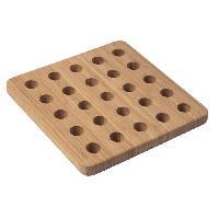 Dessous De Plat - Porte-plat Dessous de plat en bambou de forme carree - marron