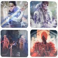 Dessous De Verre - Dessous De Bouteille 4 Dessous de verre lenticulaire Star Wars The Last Jedi