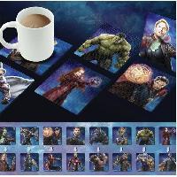 Dessous De Verre - Dessous De Bouteille 4 Dessous de verre lenticulaires Marvel- Avengers Infinity War