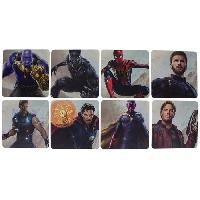 Dessous De Verre - Dessous De Bouteille 8 dessous de verre Marvel - Avengers Infinity War- Personnages