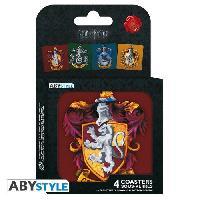 Dessous De Verre - Dessous De Bouteille Set de dessous de verres (4) Harry Potter - Maisons - ABYstyle