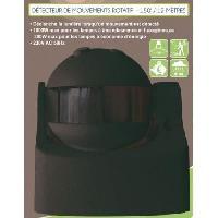 Detecteur De Mouvement Detecteur de mouvement infrarouge rotatif 180degres - Noir