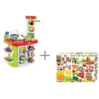 Dinette - Cuisine 100% CHEF Super Shop + 100 fruits & légumes - Ecoiffier