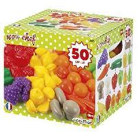 Dinette - Cuisine ECOIFFIER CHEF Pack 50 Fruits et Legumes