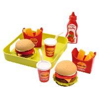 Dinette - Cuisine Plateau hamburger 19.5 cm