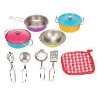 Dinette - Cuisine Playgo - Coffret de vaisselle coloree