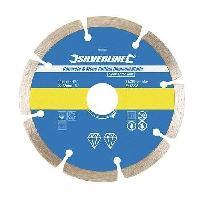 Disque Abrasif SILVERLINE Disque diamant a tronconner le beton et la pierre - Bleu