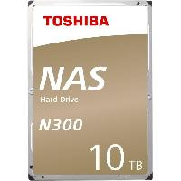 Disque Dur Externe TOSHIBA - Disque dur Interne - N300 - 10To - 7 200 tr-min - 3.5 -HDWG11AEZSTA-