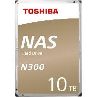 "Disque Dur Externe TOSHIBA - Disque dur Interne - N300 - 10To - 7 200 tr/min - 3.5"" (HDWG11AEZSTA)"