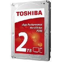 "Disque Dur Interne TOSHIBA - Disque dur Interne - P300 - 2To - 7 200 tr/min - 3.5"" (HDWD120EZST)"